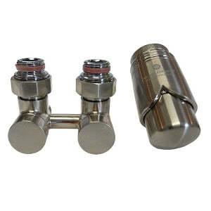 Комплект термостатический эксклюзивный SCHLOSSER 3/4 х M22х1,5 сталь (фигура прямая), арт. 601000033