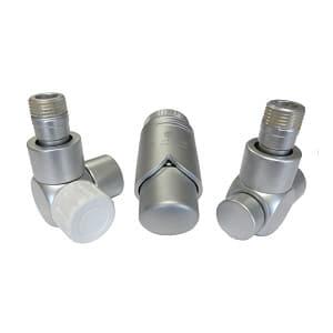 Комплект термостатический SCHLOSSER Exclusive 6017, осевой левый сатин, для стальной трубы GZ 1/2 х GW 1/2, арт. 601700157