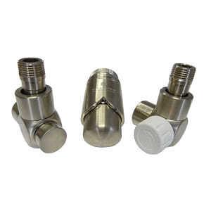 Комплект термостатический SCHLOSSER Exclusive 6017, осевой левый сталь, для медной трубы GZ 1/2 х 15х1, арт. 601700112