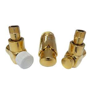 Комплект термостатический SCHLOSSER Exclusive 6017, осевой левый золото, для пластиковой трубы GZ 1/2 х 16х2, арт. 601700142