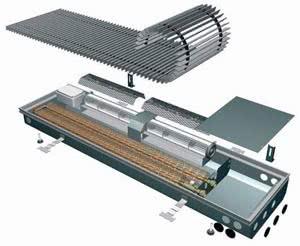 Внутрипольный конвектор Oplflex FLT с тангенциальными вентиляторами