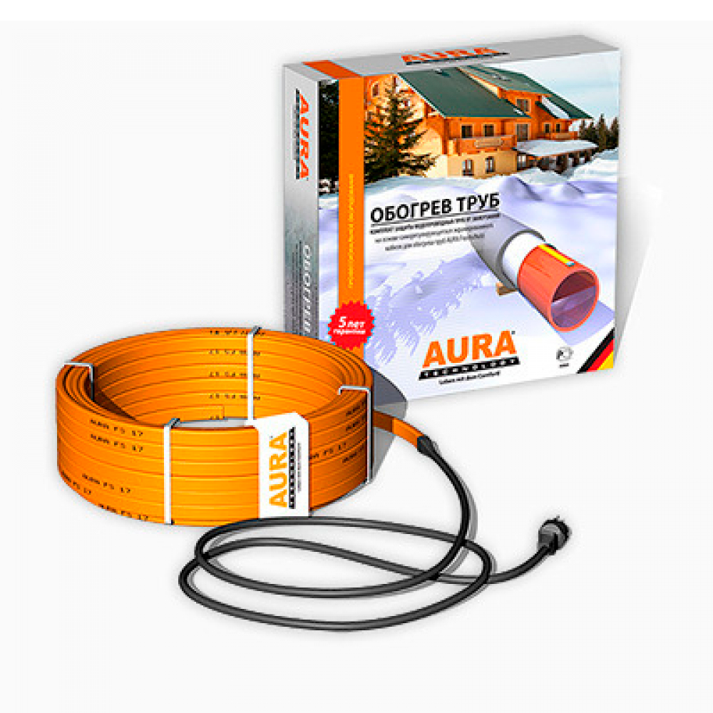 Комплекты для обогрева труб AURA