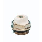 """Воздуховыпускной клапан Carlo Poletti 1/2"""" c кольцом O'RING, Никелированный / Белый"""