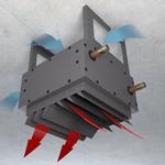 Тепловентилятор Varmann VHLT 600 RAL9007, с воздухораздающим модулем в виде двухсторонних жалюзи