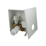 Комплект Schlosser Kombi RTL с термоголовкой Brilliant Белый, с термостатическим клапаном G3/4