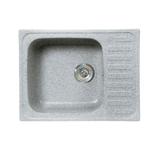 Кухонная мойка Formastone Fosto  КМ 64-49, прямоугольная с крылом, искристый серый
