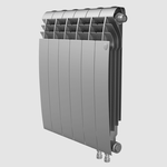 Секционный биметаллический радиатор Royal Thermo BiLiner 500 V, Silver Satin, количество секций 1