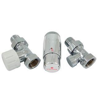 Комплект Schlosser DN15 GZ1/2 x GW1/2 проходной с головкой Мини M30x1,5, Хром