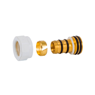Резьбовое соединение Schlosser для пластиковых труб никелированное GW 22x1.5 x 16x2