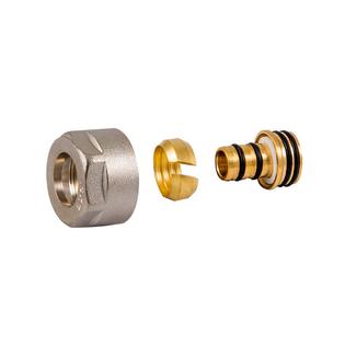 Резьбовое соединение Schlosser для пластиковых труб никелированное GW 3/4-16x2