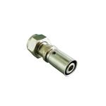 Пресс-концовка Oventrop Cofit P 20 х 2,5 мм х G ¾ НГ, никелированная, с плоским уплотнением