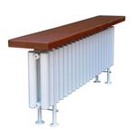 Радиатор-скамейка КЗТО Завалинка Гармония 2-300-14 доска №2