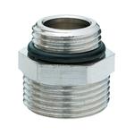 Соединительный ниппель Hummel G1/2xG3/4 евроконус, с уплотнением в виде кольца, никелированая латунь
