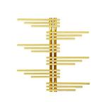 Дизайн-радиатор КЗТО Зета Плюс-9-990, золото