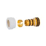 Резьбовое соединение Schlosser для пластиковых труб белое GW 22x1.5 x 16x2