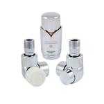 Комплект термостатический Schlosser Lux Хром Форма осевая, левый GZ 1/2 x GW 1/2