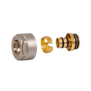 Резьбовое соединение Schlosser для пластиковых труб белое GW 3/4-16x2