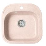 Кухонная мойка Formastone Fosto  КМ 48-49, квадратная, замороженный персик
