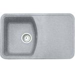 Кухонная мойка Formastone Fosto  КМ 76-47, прямоугольная с крылом, искристый серый