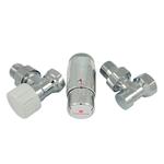 Комплект Schlosser DN15 GZ1/2 x GW1/2 угловой с головкой Мини M30x1,5, Хром