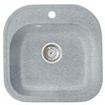 Кухонная мойка Formastone Fosto  КМ 48-49, квадратная, искристый серый