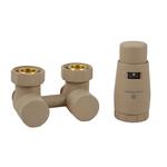 Комплект Schlosser: эксклюзивный узел подключения 50 мм угловой с термоголовой 3/4 x 22x1,5, Ral