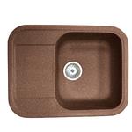 Кухонная мойка Formastone Fosto  КМ 61-47, прямоугольная с крылом, ореховая карамель