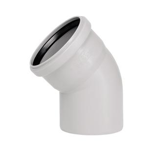 Отвод Ostendorf ПП НТВ 32х45°, для внутренней канализации, цвет белый, Ger