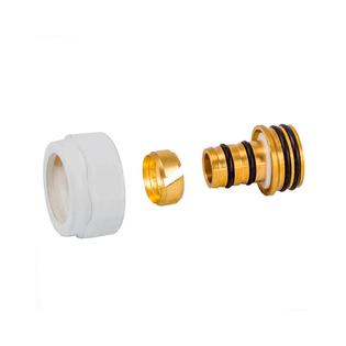 Резьбовое соединение Schlosser для пластиковых труб хром GW 3/4-16x2