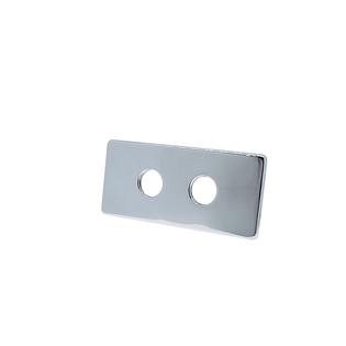 Двойная маскирующая розетка Schlosser 150/70 L50, хром