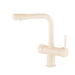 Смеситель для кухни Haiba HB70088-9 с подключением фильтра питьевой воды, бежевый