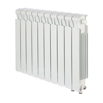 Радиатор биметаллический Rifar MVR500, 12 секций, нп прав, белый