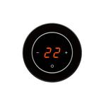 Терморегулятор AURA RONDA 9005 Black Classic классический черный