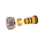 Резьбовое соединение Schlosser для пластиковых труб хром GW 22x1.5 x 16x2