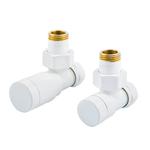 Комплект клапанов Schlosser ELEGANT GZ 1/2 х GW 1/2, угловой, с ручной регулировкой, Белый