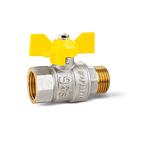 Кран шаровой латунный LD Pride 47.15.B-Н.Б.GAS