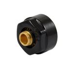 Резьбовое соединение Schlosser для пластиковых труб чёрное GW 3/4 x 16x2