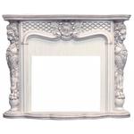 Деревянный портал Dimplex Castle 1140x1425x510 - Слоновая кость с темной патиной