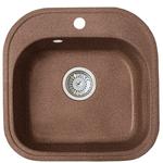 Кухонная мойка Formastone Fosto  КМ 48-49, квадратная, ореховая карамель