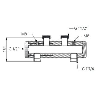 Стальной гидравлический разделитель HOOBS в теплоизоляции