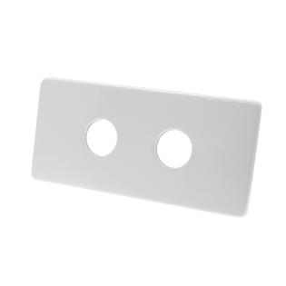 Двойная маскирующая розетка Schlosser 150/70 L50, белая