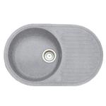 Кухонная мойка Formastone Fosto  КМ 74-46, овальная с крылом,искристый серый