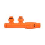 Термостатический узел Schlosser Duo-Plex Угловой, правый, Ral