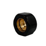Резьбовое соединение Schlosser GW 22x1.5 x 16x2 для пластиковых труб, Чёрное