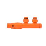 Термостатический узел Schlosser Duo-Plex Угловой, левый, Ral