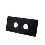 Двойная маскирующая розетка Schlosser 150/70 L50 Ral 9005