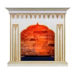 Деревянный портал Dimplex Abu-Dabi 982х1090х405 - Белый дуб, патина золото