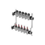 Коллектор с расходомерами Uponor Vario S стальной, выходы 4X3/4 Евроконус