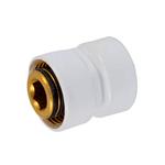 Резьбовое соединение Schlosser для стальных труб GW M22x1,5 x GW 1/2, цвет белый