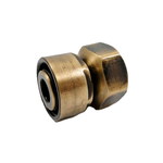 Резьбовое соединение Schlosser GW M22x1,5 x GW 1/2 для стальных труб, Античная латунь